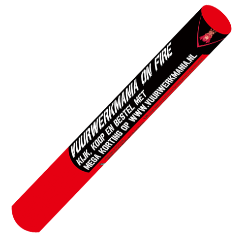 Red flare torch