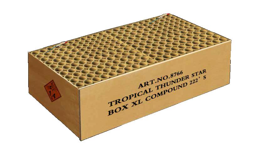 TROPICAL THUNDER STAR BOX XL 222 shots
