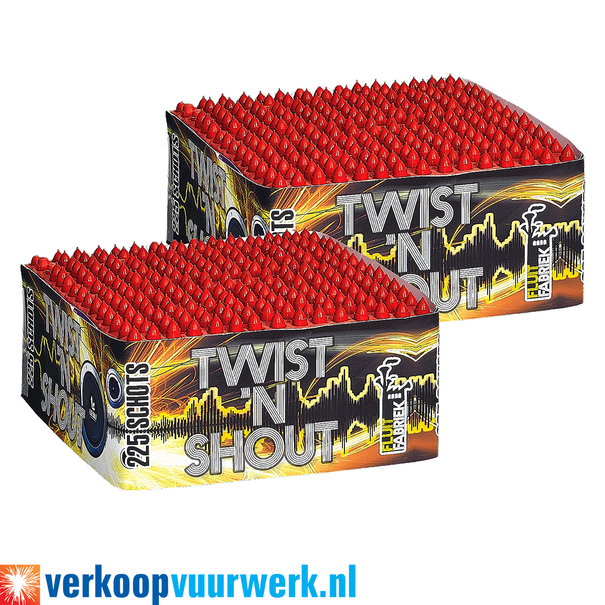 Twist 'n shout 1+1 gratis op=op!