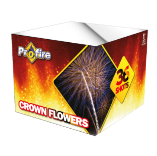 ART. 1109 CROWN FLOWERS, 36 SHOTS CAKE (PF-09)