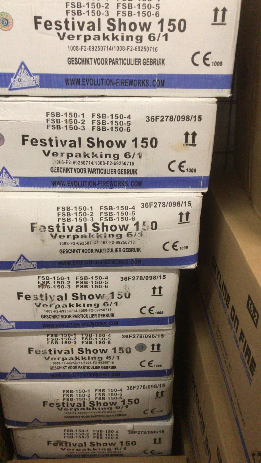 ART . 1215 FESTIVAL SHOW 150 ( VERSIE 2015 )