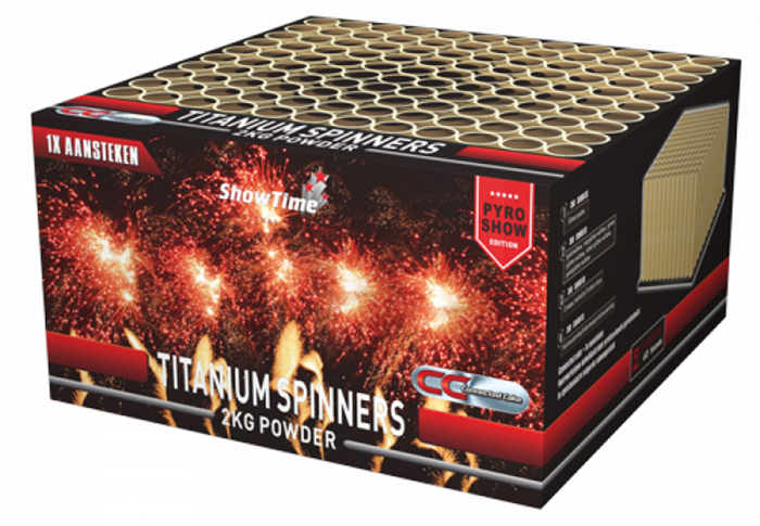 ART. 5115 TITANIUM SPINNERS, 100 SCHOTEN