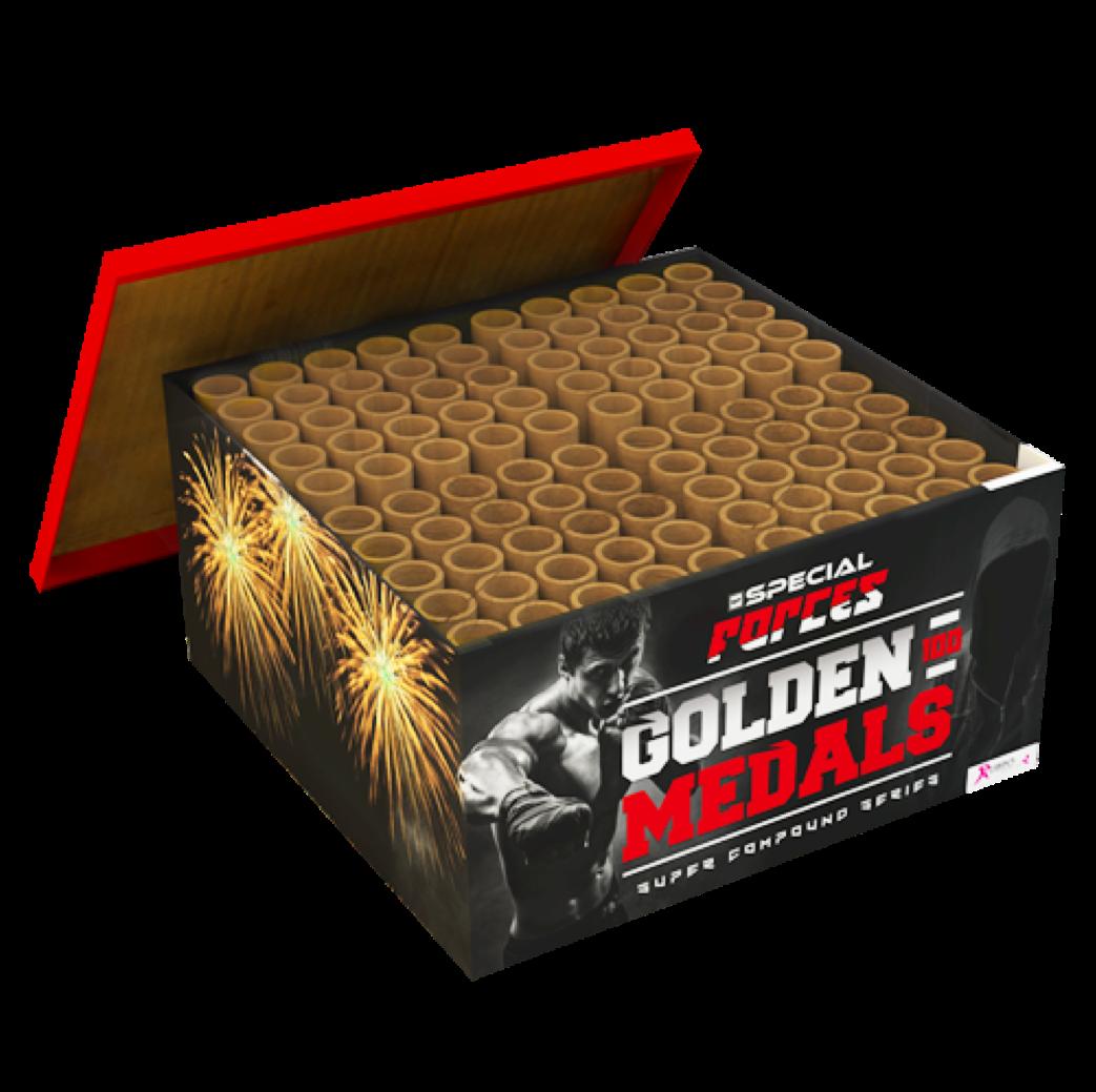 470 GOLD MEDALS, 100 SHOTS