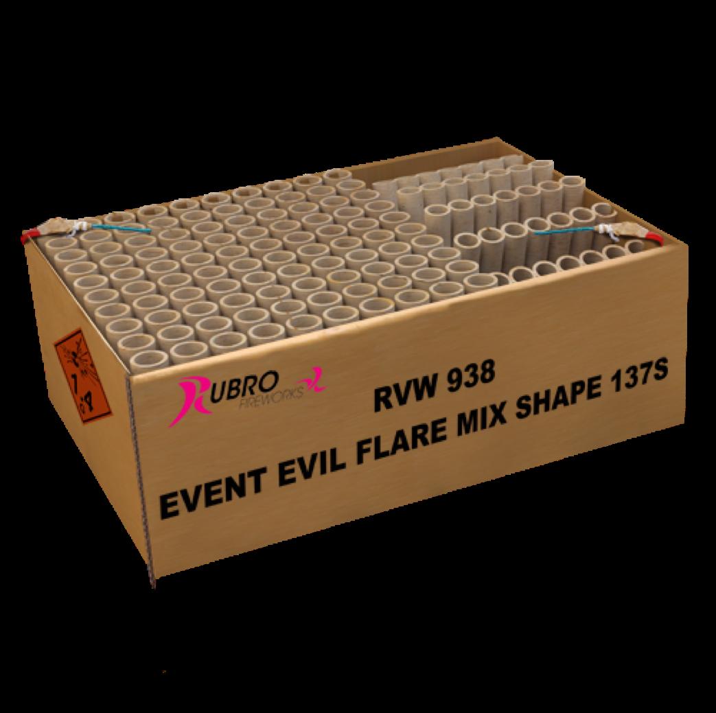 ART. 938 EVENT EVIL FLARE MIX SHAPE, 137 SHOTS