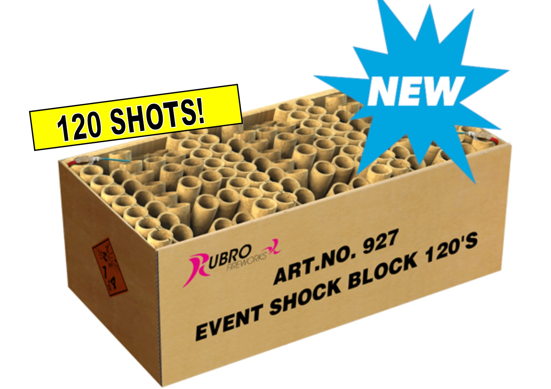 ART. 927 EVENT SHOCK BLOCK, 120 SHOTS NIEUW!