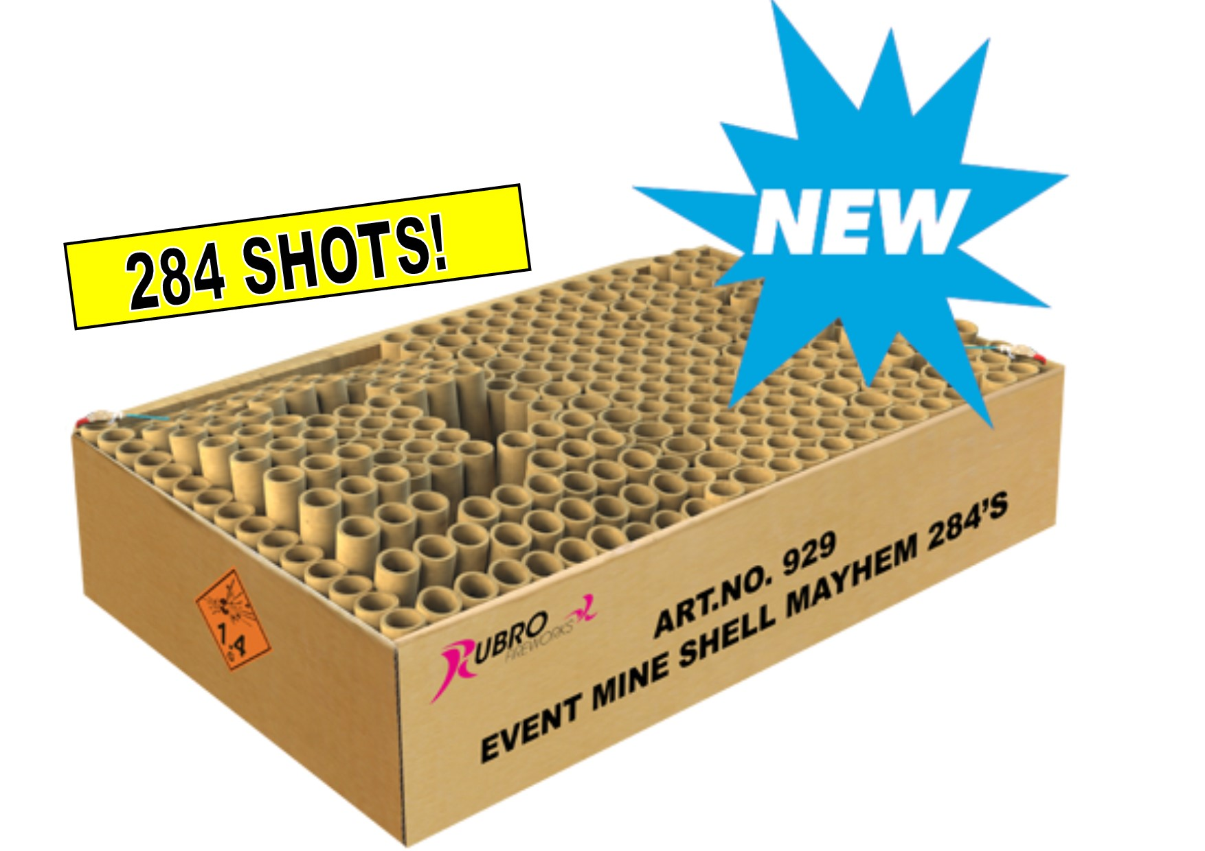 ART. 929 EVENT MINE SHELL MAYHEM, 284 SHOTS NIEUW!