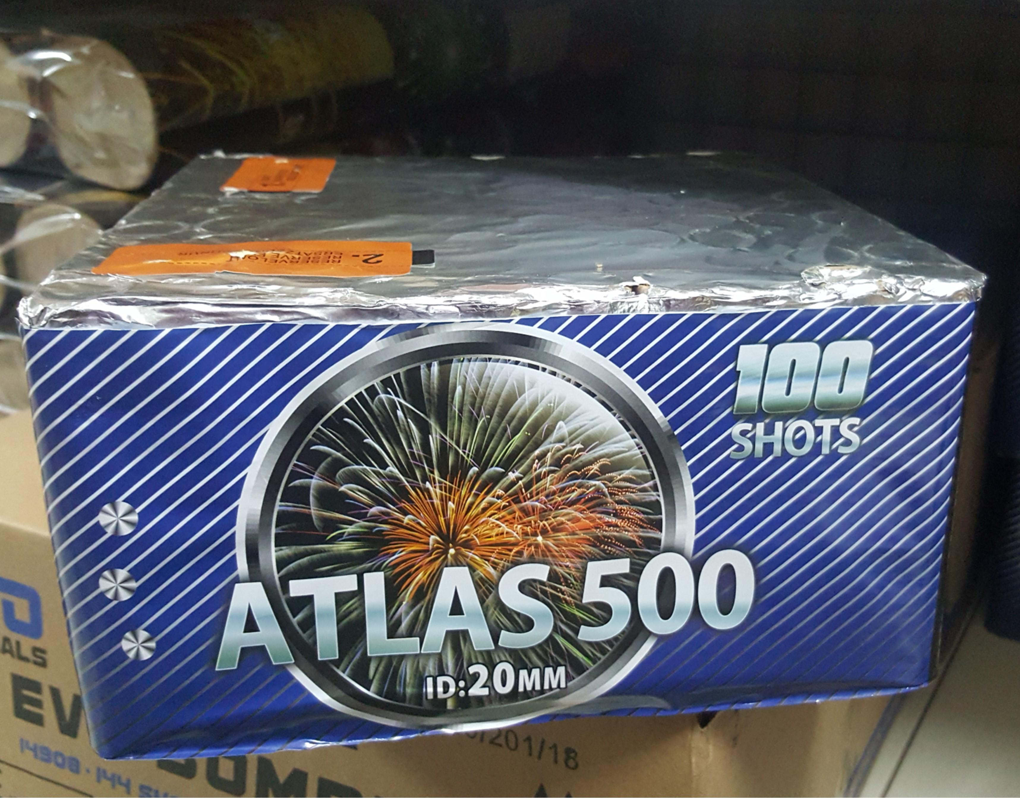 ART. 4881 ATLAS 500, 100 SHOTS NIEUW!