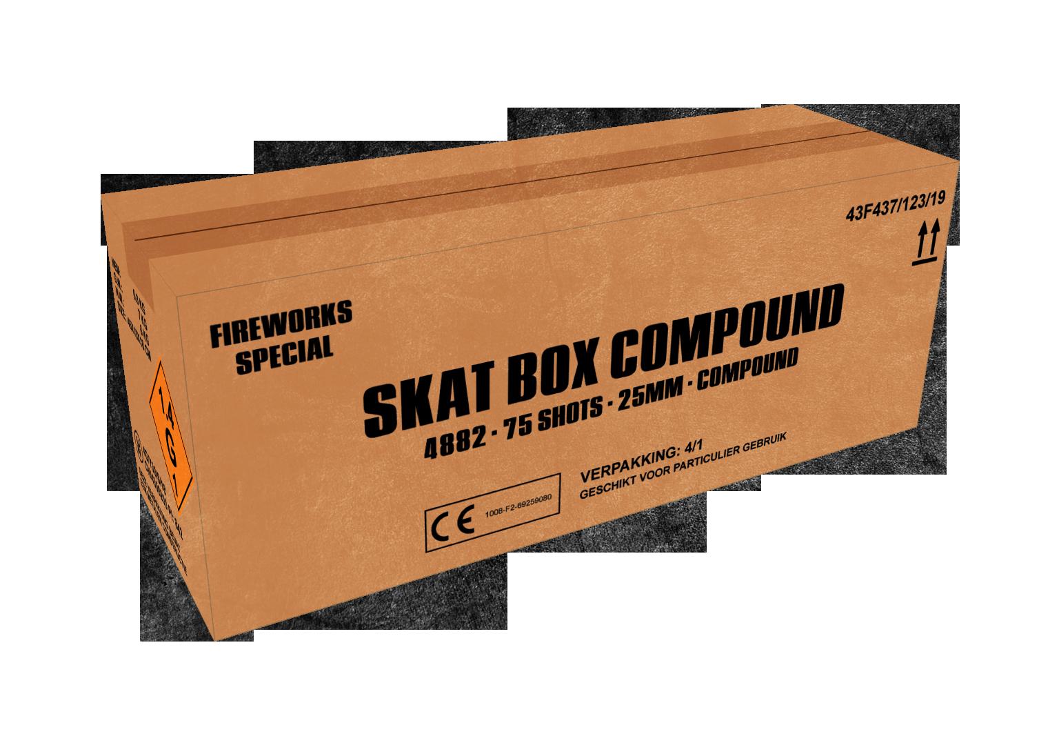 ART. 4882 SKAT BOX, 75 SHOTS CAKE COMPOUND NIEUW!
