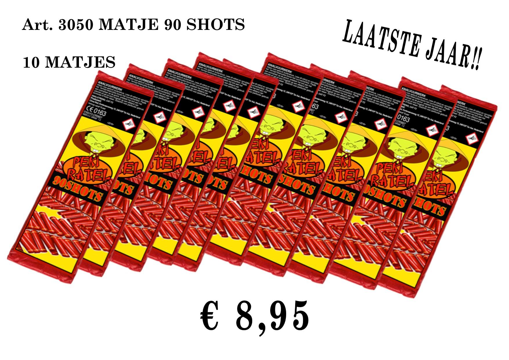 art. 3050 10 MATJES VAN 90 SHOTS (laatste jaar)