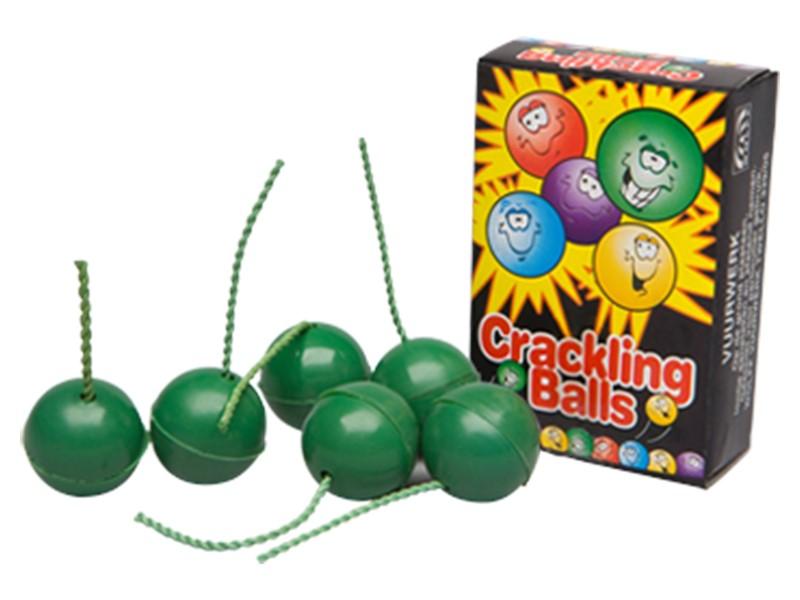 ART. 308 CRACKLING BALLS, 6 STUKS