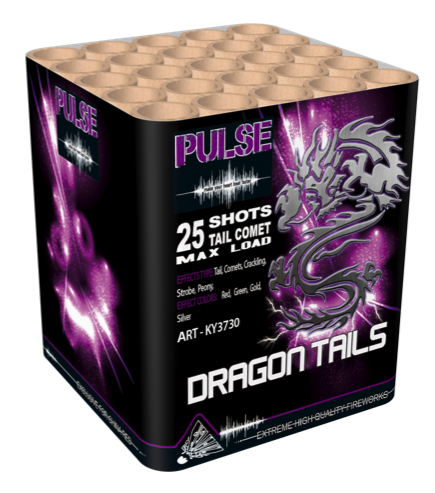 ART. 3730 DRAGON TAIL CAKE, 25 SHOTS