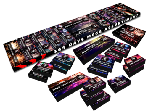ART. 1742 365 DAYS MEGA ASSORTIMENT, CAT. 1 VUURWERK