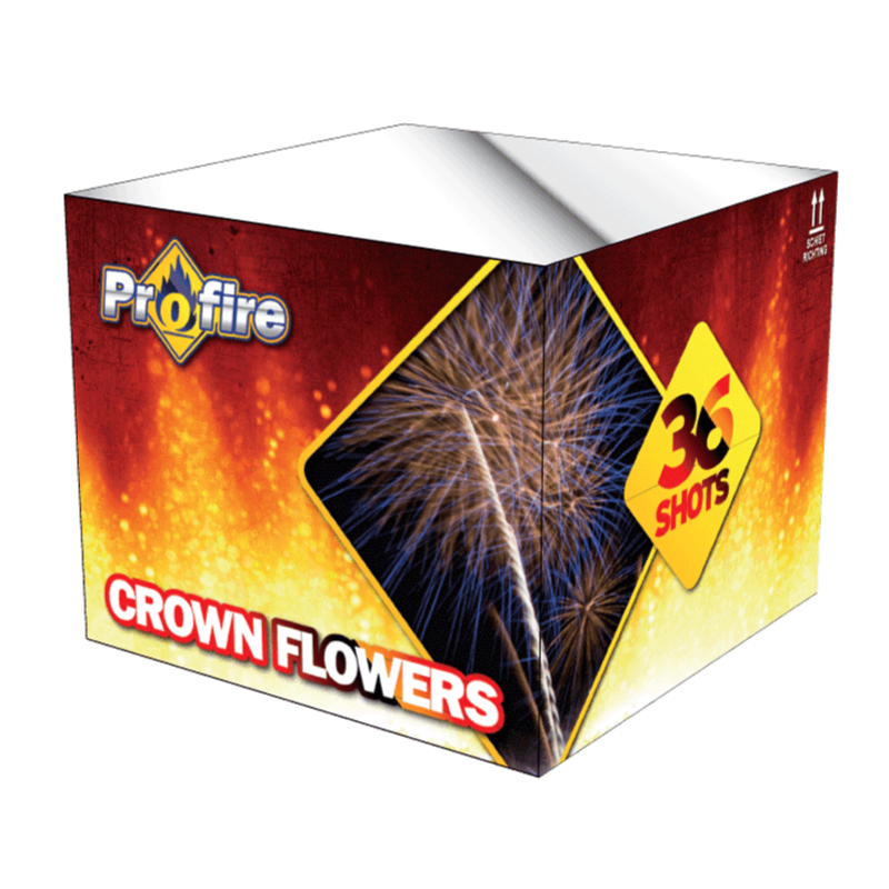 ART. 1109 CROWN FLOWERS, 36 SHOTS CAKE (PF-09)