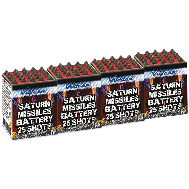 ART. 1122 SATURN MISSLE 25 SHOTS, 4 IN EEN PAK