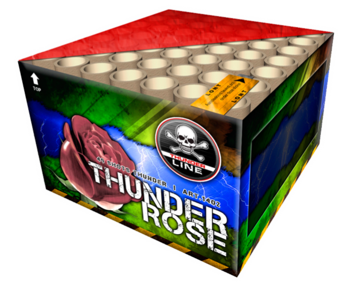 ART. 1042 THUNDER ROSE KNALCAKE, 49 SHOTS