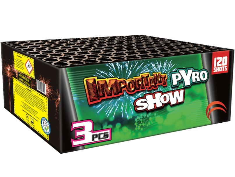Art. 6561 IMPORTANT PYROSHOW, 120 SHOTEN