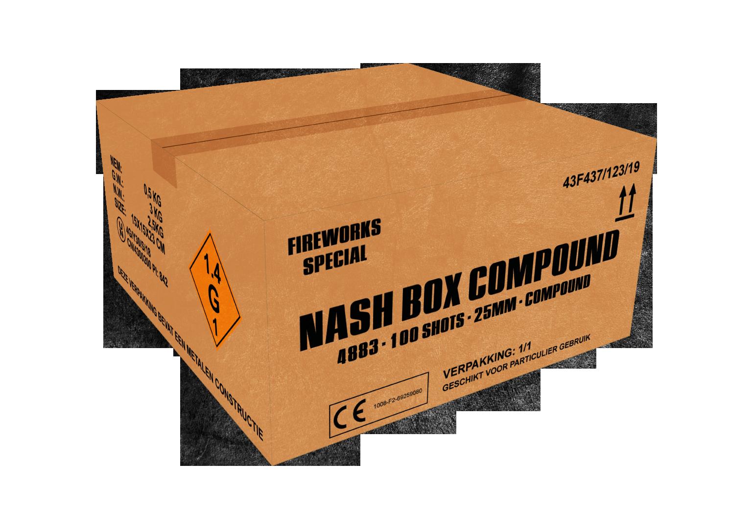 ART. 4883 NASH BOX, 100 SHOTS 25 MM COMPOUND