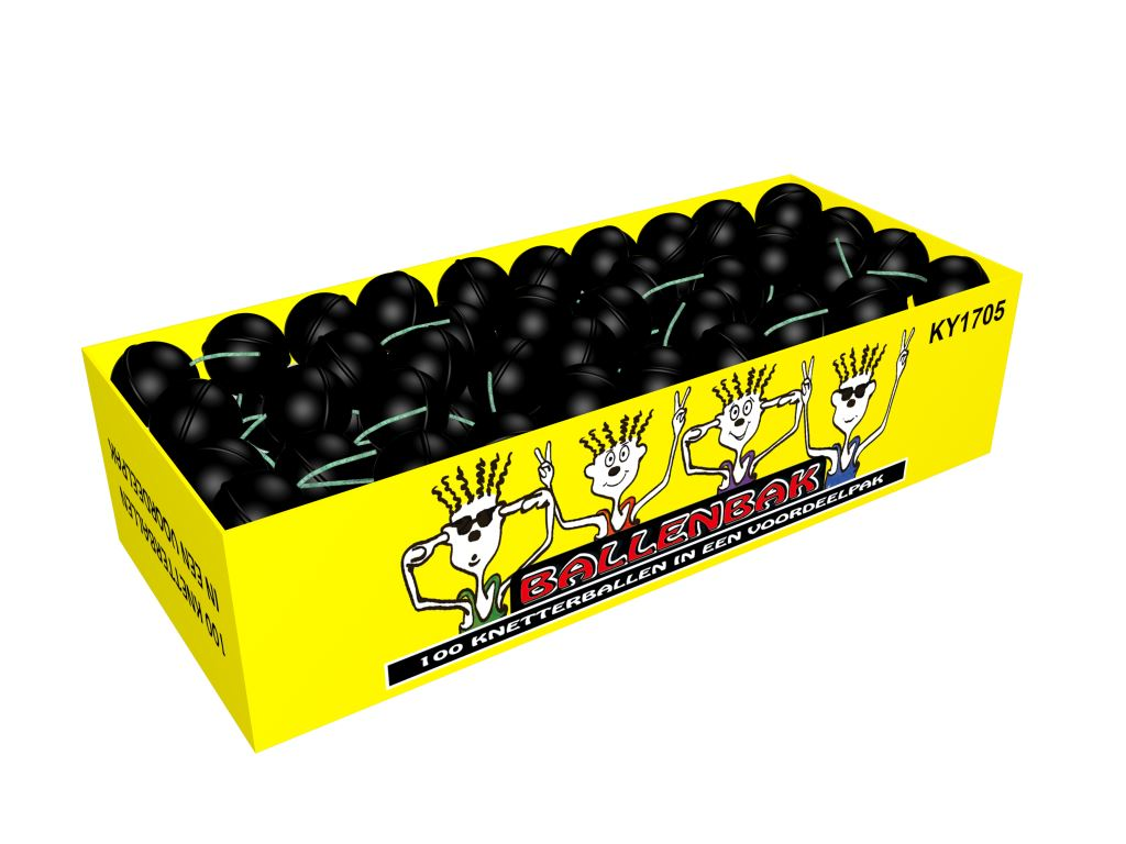 Crackling balls box 100 stuks