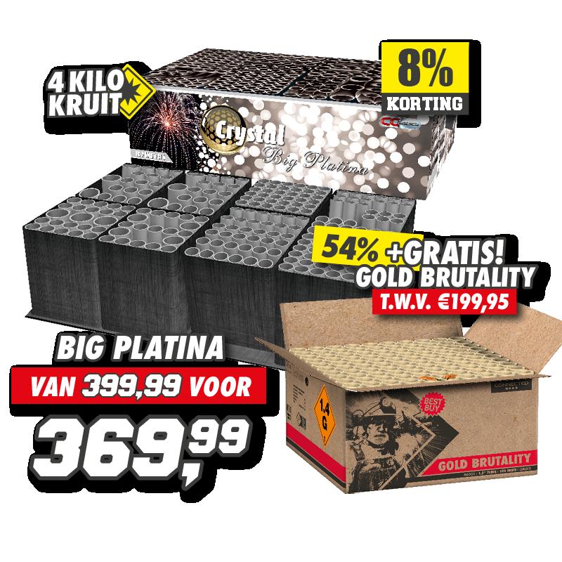 Big Platina Crystal + Gold Brutality