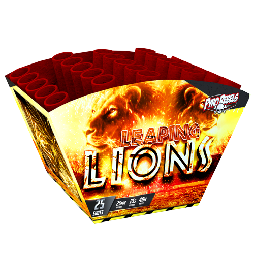 LEAPING LIONS