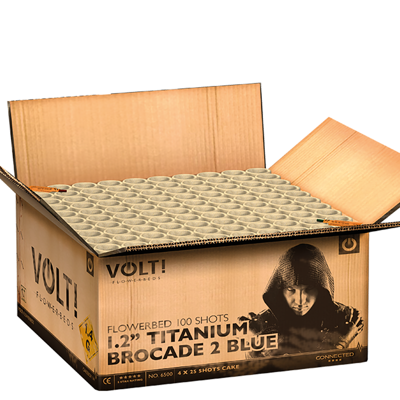 "1.2"" Titanium Brocade 2 Blue [Karton]"