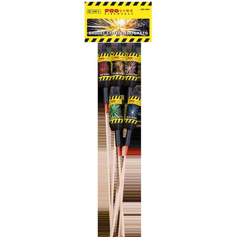 Pro-Line Bright Colour Rockets  5 vuurpijlen