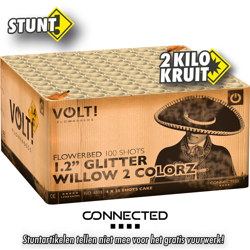 """1.2"""" Glitter Willow 2 Colorz CONNECTED"""