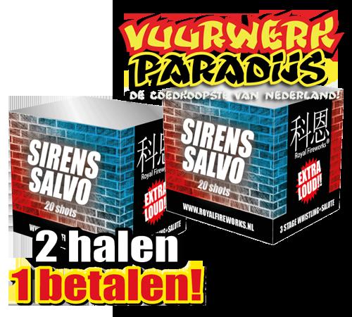 SIRENS SALVO 2 HALEN 1 BETALEN