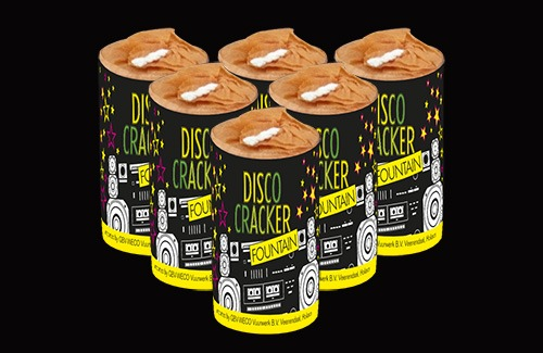 B2B Disco Cracker Fountain 6 stuks