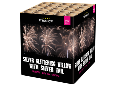 Silver Glittering Willow w Silver Tail