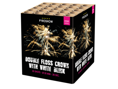 Double floss crown w White blink
