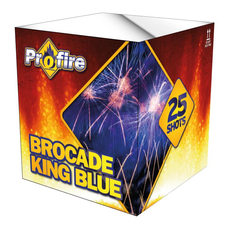 Brocade king blue