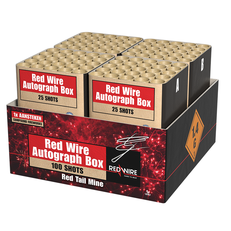 Red Wire Autograph Box