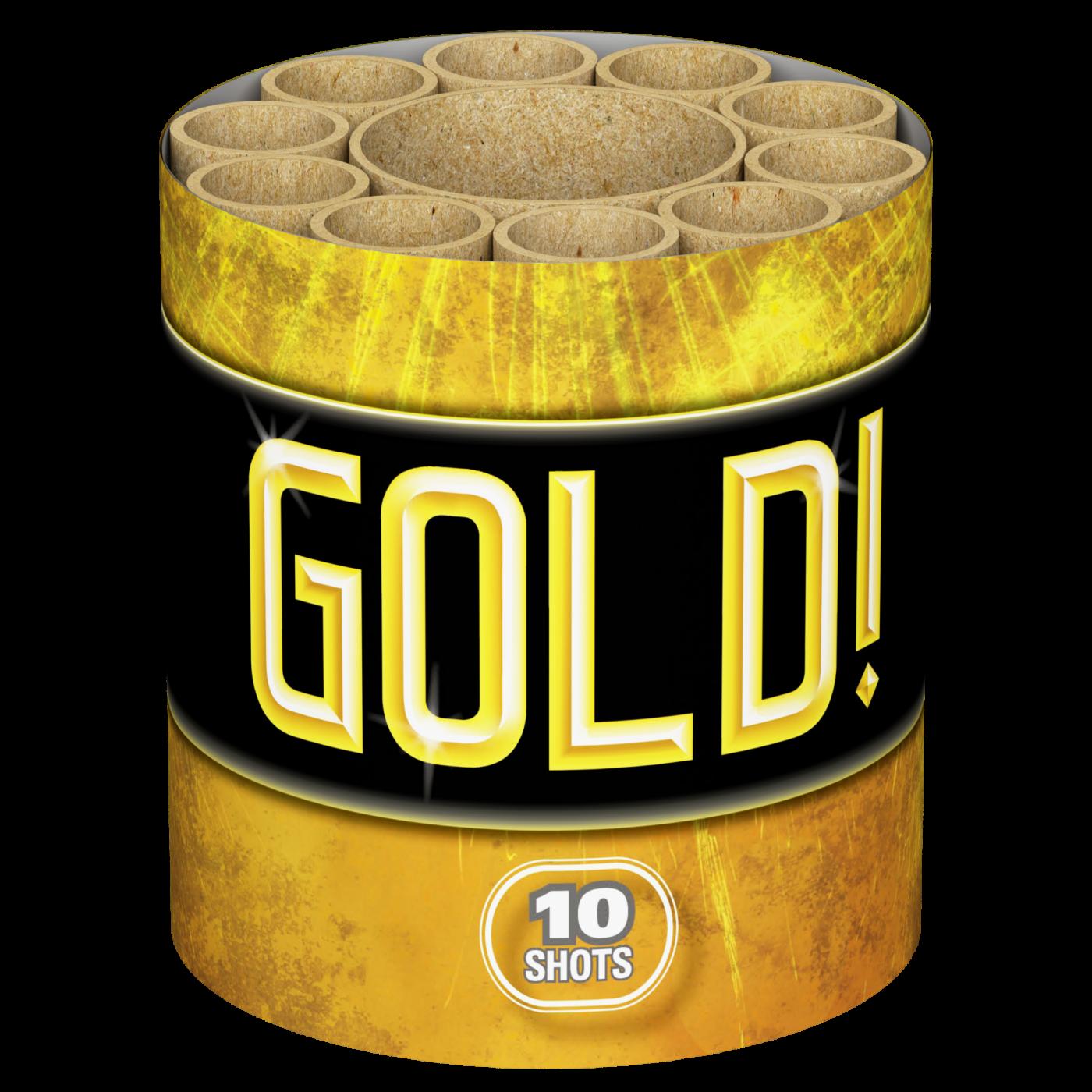 Gold, 10 shots