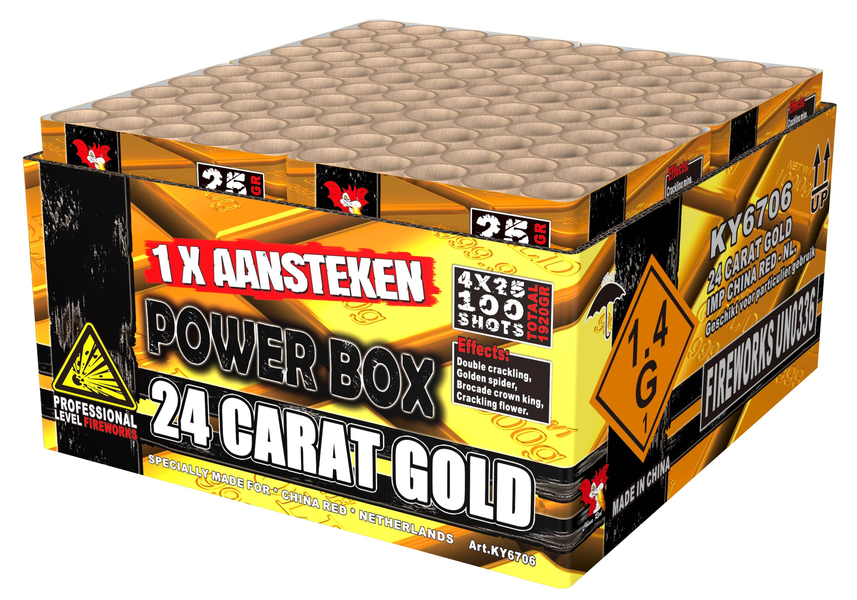24 carat gold china red compound 2 kilo 100 shots ky6706 for Openingstijden intratuin duiven