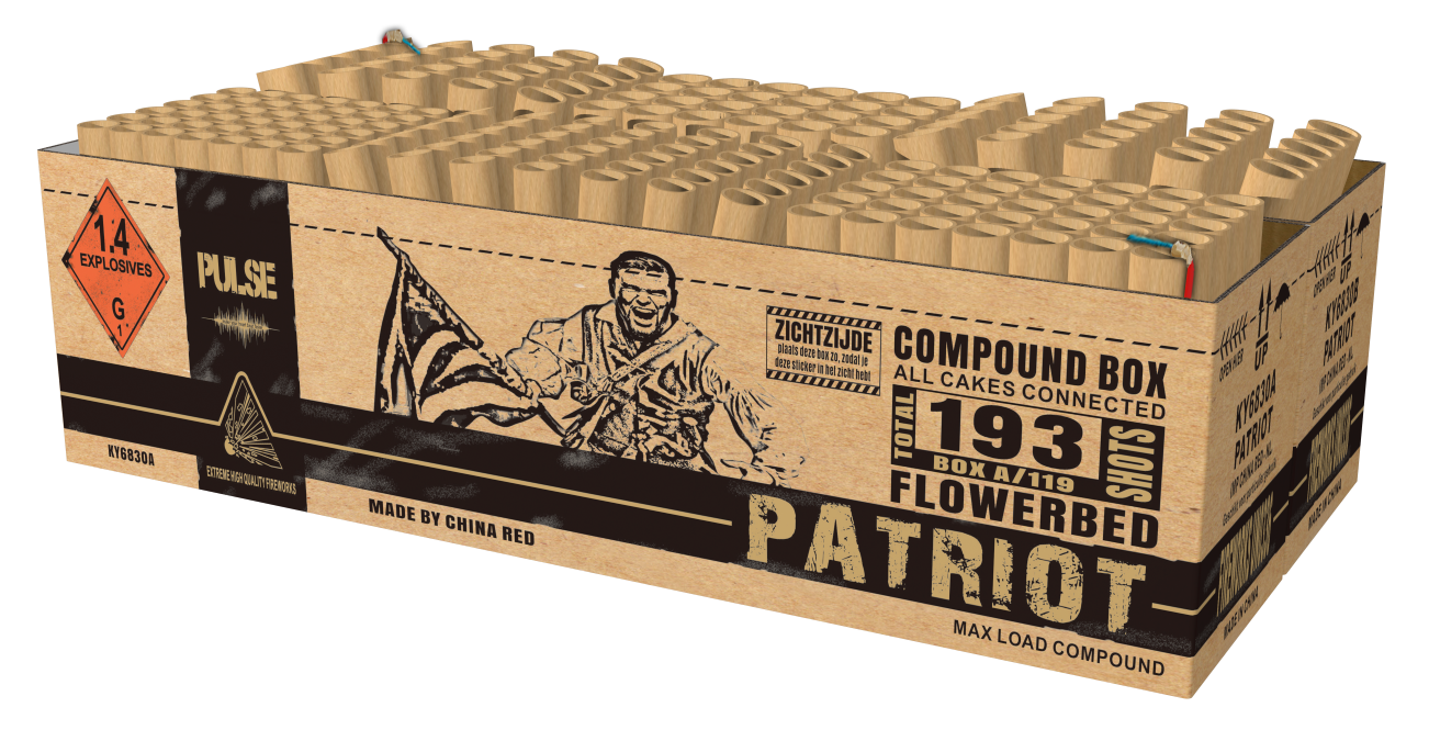 Patriot compound cake 193 shots ky6830 pulse intratuin for Openingstijden intratuin duiven