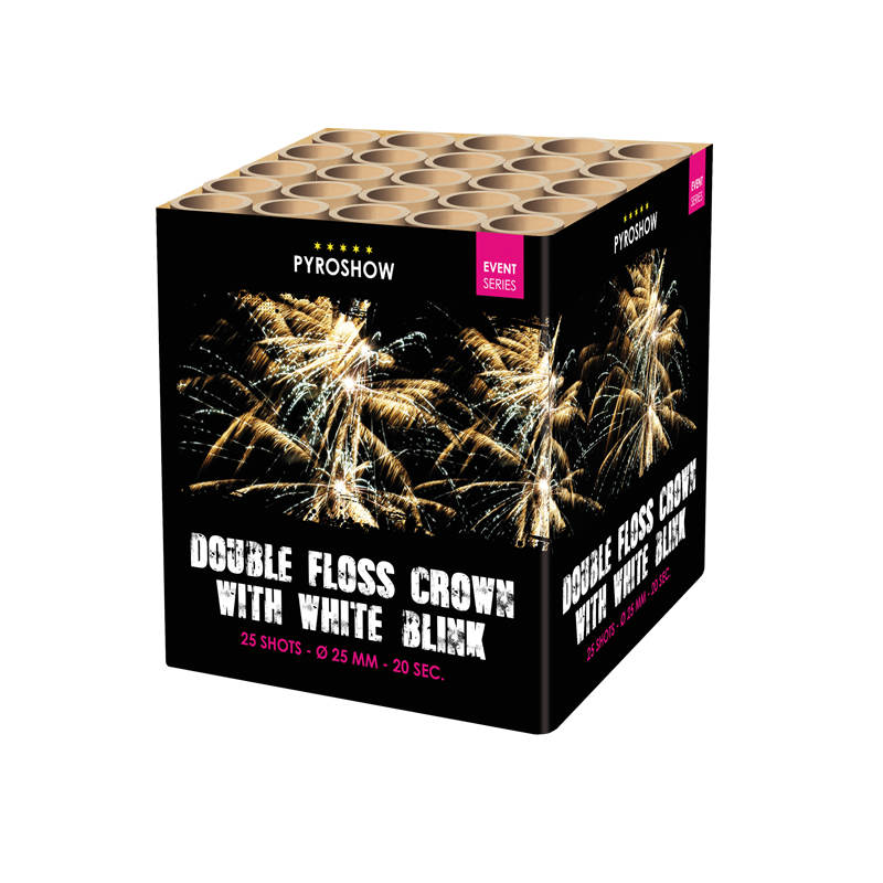 Double floss crown w. white blink