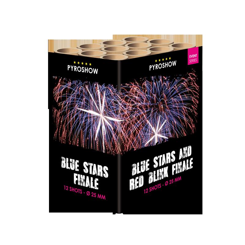 Finale cake: Blue stars/Red blink