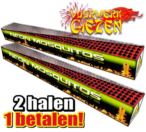 NEON MOSQUITOS 2 HALEN 1 BETALEN