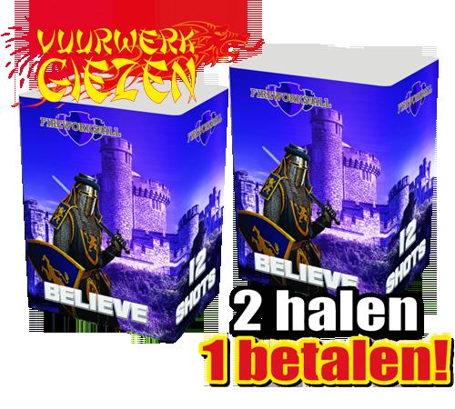 BELIEVE 12 SHOTS  2 HALEN 1 BETALEN