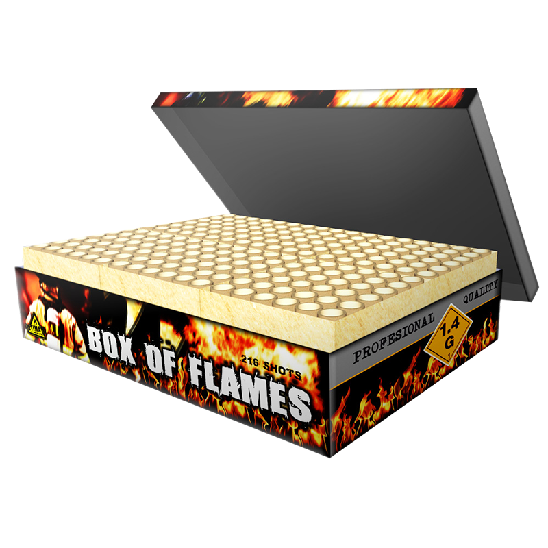 Box of Flames Cakebox