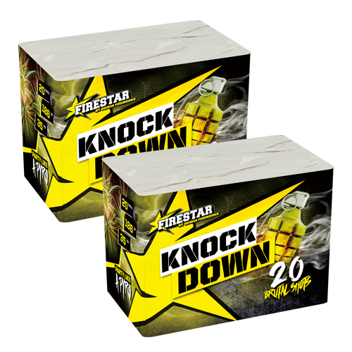 KNOCK DOWN, 20 sh. 1+1 GRATIS!