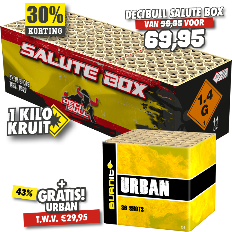 DECIBULL Salute Box + Urban