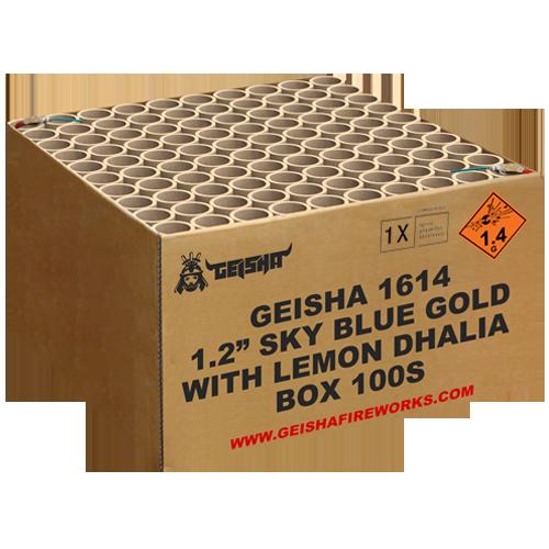 """1.2"""" SKYBLUE GOLD WITH LEMON DHALIA"""