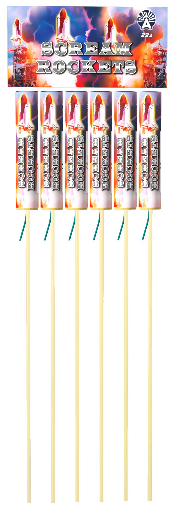 Scream Rockets (6 stuks)