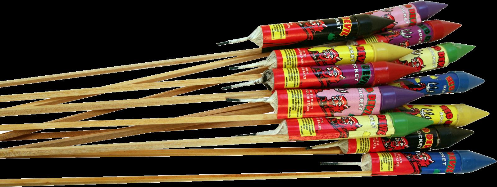 Red Devil Rockets  (12 Stuks)