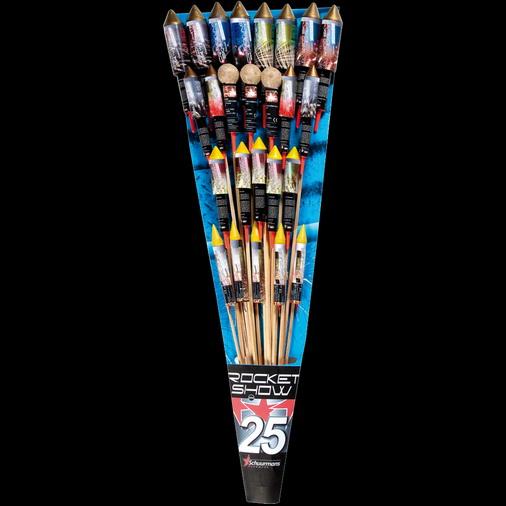 Rocket Show 25 rockets