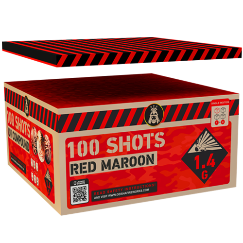 RED MAROON, 100 SHOTS COMPUND!