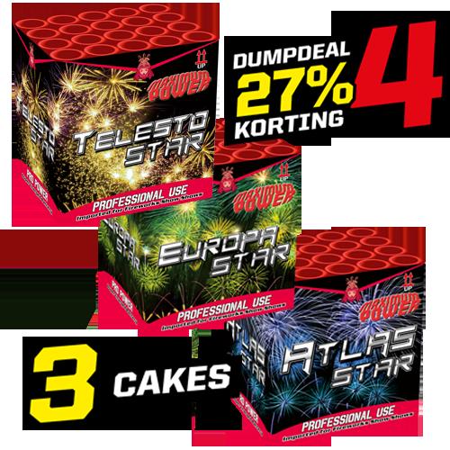 Dumpdeal 4 , set 3 cakes!!