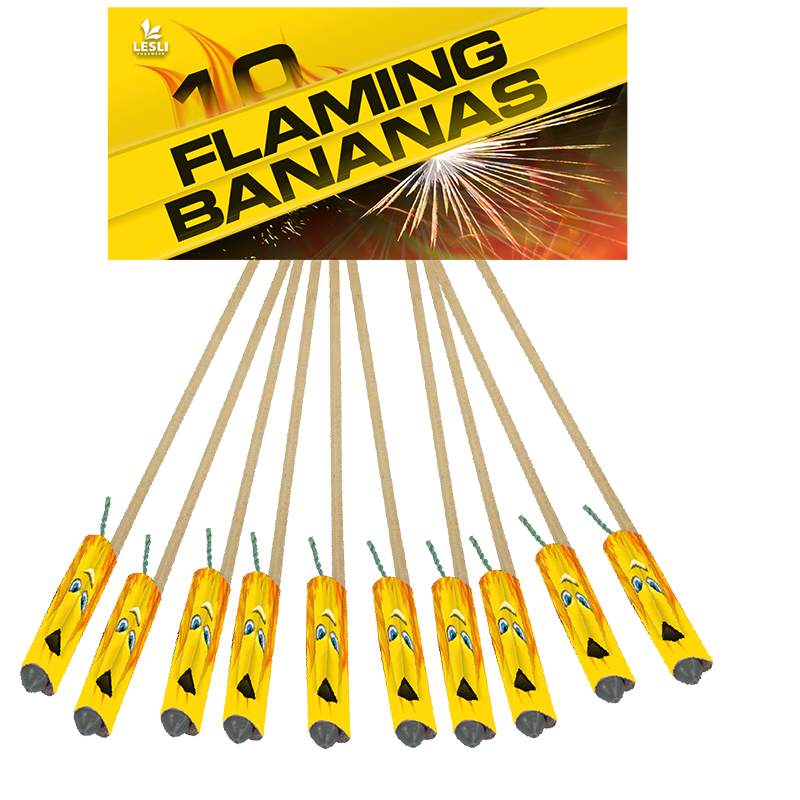 Flaming bananas*